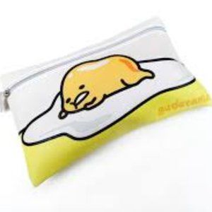 Ipsy Gudetama Sanrio Lazy Egg Cosmetic Pouch Bag